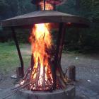 Feuer machen - nein, das waren nicht wir! Au weia...