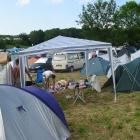 Unsere 4 Zelte für 4 Leute sind aufgebaut! Jetzt kann's richtig losgehen.