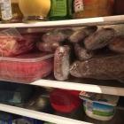 Spare Ribs und Beef Brisket in Frischhaltefolie