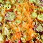 Die fertige Pizza